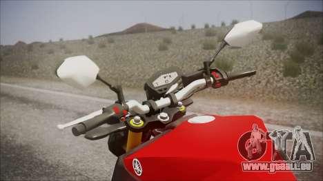 Yamaha MT-09 pour GTA San Andreas vue de droite