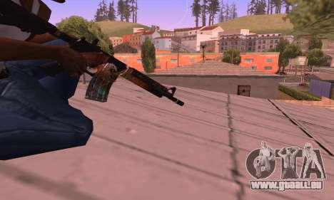 M4 Grifin pour GTA San Andreas troisième écran