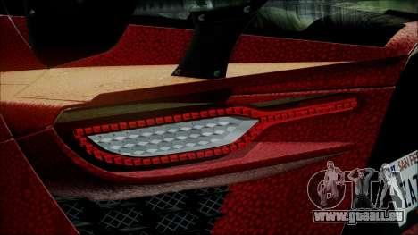 Bertone Mantide 2010 für GTA San Andreas Innenansicht