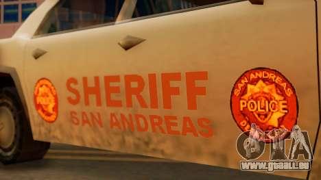 4-door Police Esperanto pour GTA San Andreas sur la vue arrière gauche