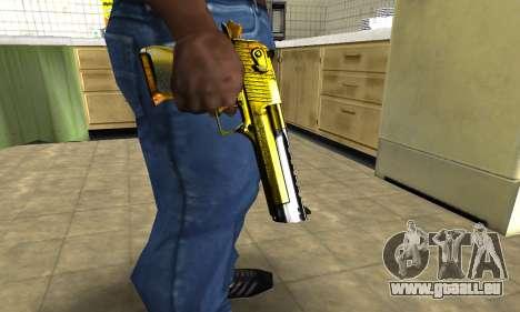 Yellow Deagle für GTA San Andreas zweiten Screenshot