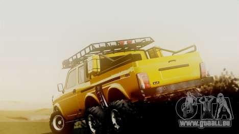 VAZ Niva 2121 6x6 pour GTA San Andreas sur la vue arrière gauche