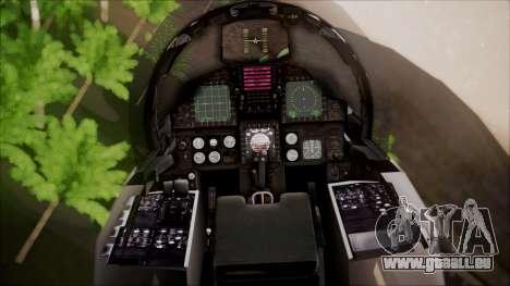 F-15S MTD Grabacr (8492nd) Ace Combat 5 pour GTA San Andreas vue arrière