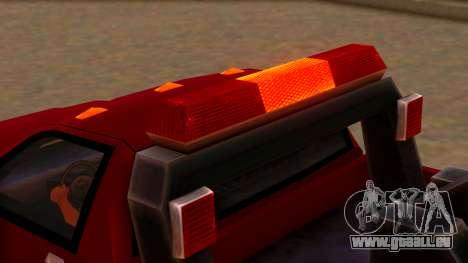 Premier Towtruck pour GTA San Andreas vue arrière