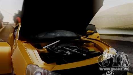 Toyota GT86 PJ pour GTA San Andreas vue arrière