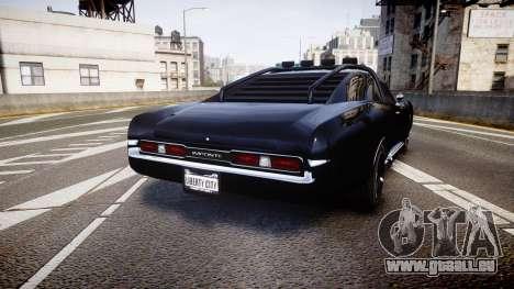 GTA V Imponte Duke O Death pour GTA 4 Vue arrière de la gauche