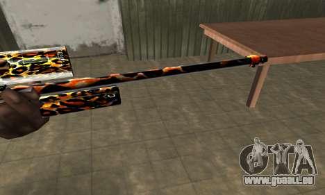 Leopard Sniper Rifle pour GTA San Andreas deuxième écran