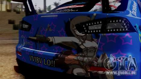 Mitsubishi Lancer Evolution X Taihou Itasha pour GTA San Andreas vue intérieure