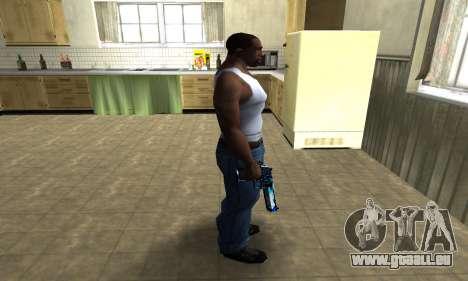 Blue Lines Deagle für GTA San Andreas dritten Screenshot