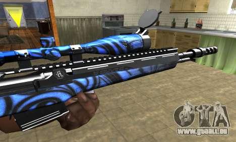 Blue Limers Sniper Rifle pour GTA San Andreas deuxième écran