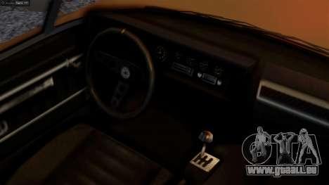 GTA 5 Invetero Coquette BlackFin pour GTA San Andreas sur la vue arrière gauche