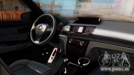 BMW M1 Tuned pour GTA San Andreas vue de droite