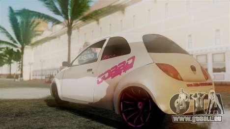 Ford Ka El Patan pour GTA San Andreas sur la vue arrière gauche