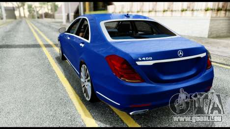 Mercedes-Benz S-class W222 2014 pour GTA San Andreas laissé vue