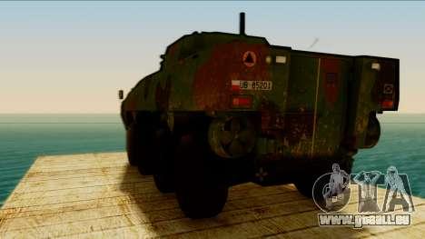KTO Rosomak pour GTA San Andreas sur la vue arrière gauche