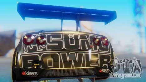 Nissan GT-R GT1 Sumo für GTA San Andreas Rückansicht