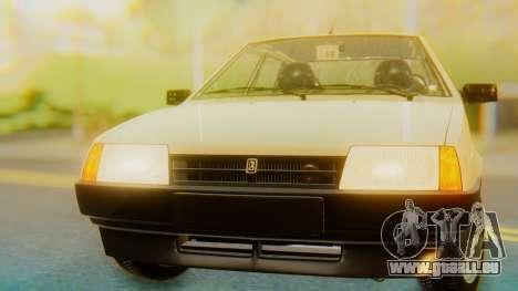 VAZ 21099 Stoke pour GTA San Andreas vue arrière