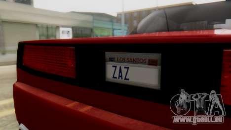 Infernus BMW Revolution with Plate pour GTA San Andreas vue de droite