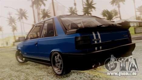 Renault 11 Turbo pour GTA San Andreas laissé vue