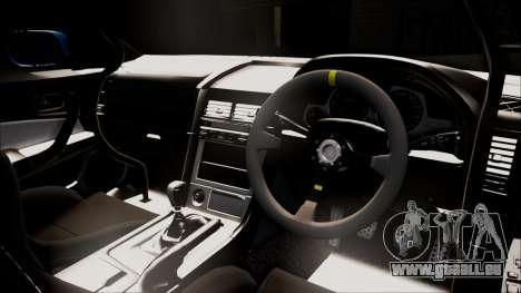 Nissan Skyline ER34 Duck Attack Team pour GTA San Andreas sur la vue arrière gauche