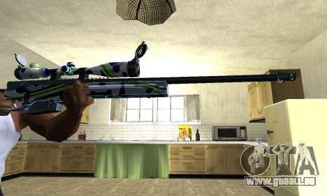 Marcken Sniper Rifle pour GTA San Andreas deuxième écran
