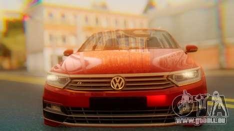 Volkswagen Passat Variant R-Line pour GTA San Andreas vue arrière