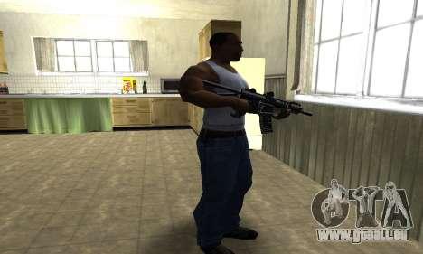 Full Black Automatic Gun für GTA San Andreas dritten Screenshot