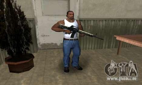Military M4 pour GTA San Andreas troisième écran