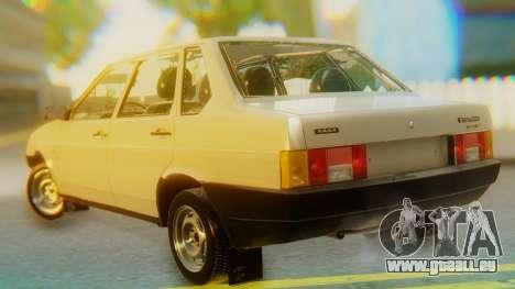 VAZ 21099 Stoke pour GTA San Andreas laissé vue