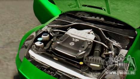 Nissan 350Z für GTA San Andreas Innenansicht