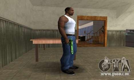 Green Clayn Deagle pour GTA San Andreas deuxième écran