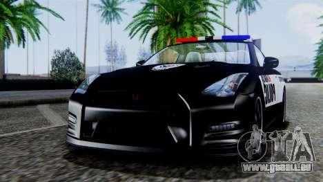 NFS Rivals Nissan GT-R R35 pour GTA San Andreas sur la vue arrière gauche
