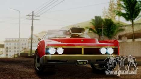 GTA 5 Albany Virgo pour GTA San Andreas sur la vue arrière gauche