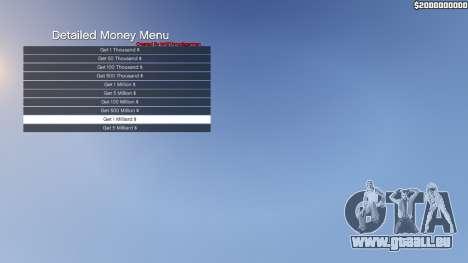 Detailed Money Menu für GTA 5