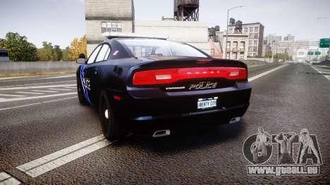Dodge Charger 2014 LCPD [ELS] pour GTA 4 Vue arrière de la gauche