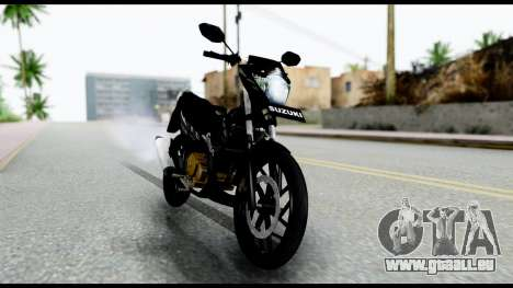Satria FU Dark Fighter Predator pour GTA San Andreas sur la vue arrière gauche