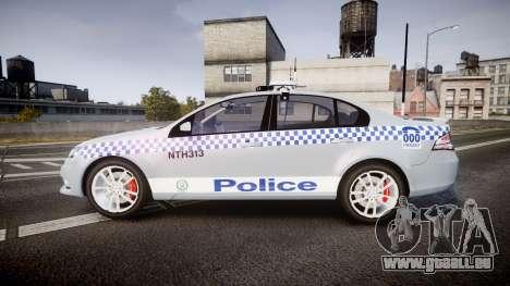 Ford Falcon FG XR6 Turbo Police [ELS] pour GTA 4 est une gauche