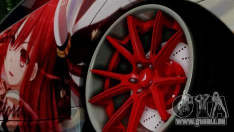 Lexus GS350 Stance Itsuka Kotori pour GTA San Andreas sur la vue arrière gauche