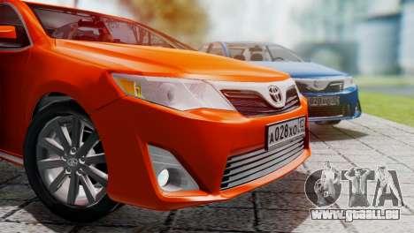 Toyota Camry 2012 pour GTA San Andreas laissé vue