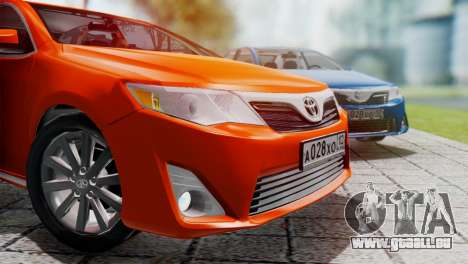 Toyota Camry 2012 für GTA San Andreas linke Ansicht
