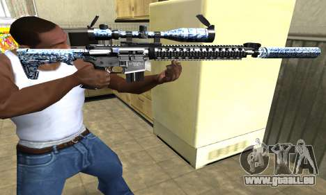 Blue Snow Sniper Rifle für GTA San Andreas zweiten Screenshot