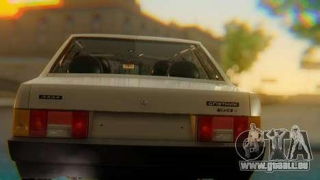 VAZ 21099 Stoke pour GTA San Andreas vue intérieure