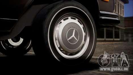 Mercedes-Benz 300 SEL 6.3 pour GTA San Andreas sur la vue arrière gauche