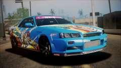 Nissan Skyline ER34 Duck Attack Team pour GTA San Andreas