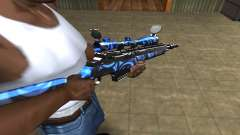 Blue Limers Sniper Rifle pour GTA San Andreas