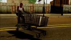Le chariot au supermarché