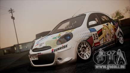 Nissan Micra 2011 Stance Itasha pour GTA San Andreas