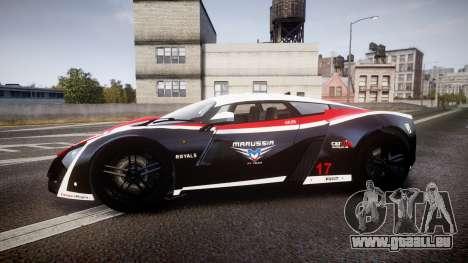 Marussia B2 2012 Jules für GTA 4 linke Ansicht