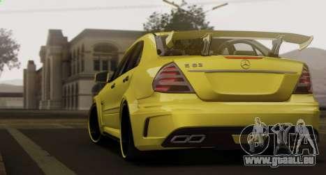 Mercedes-Benz E63 Qart Tuning für GTA San Andreas Rückansicht