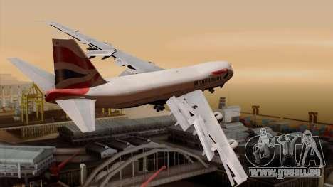 Boeing 747 British für GTA San Andreas linke Ansicht